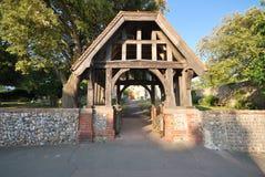 De poort van Lych die met oude eik wordt gemaakt Stock Afbeeldingen