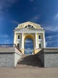De Poort van monumentenmoskou in de stad van Irkoetsk Stock Foto's