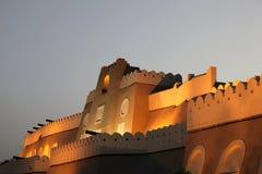 De poort van Muttrah bij nacht, Oman Royalty-vrije Stock Afbeelding