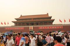 De poort van Tianan van Verboden Stad royalty-vrije stock foto's
