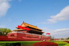 De poort van Tiananmen stock afbeeldingen