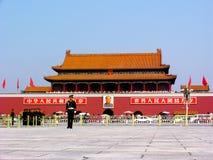 De Poort van Tiananmen in Peking Stock Afbeeldingen
