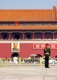 De Poort van Tiananmen in Peking Stock Foto's