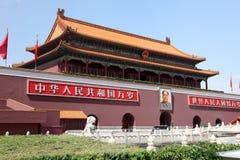 De Poort van Tienanmen, de Poort van Hemelse Vrede Stock Afbeeldingen