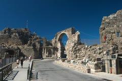 De poort van Vespasian van de keizer in de antieke stadsKant. Royalty-vrije Stock Afbeeldingen