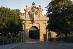De poort van Vysehrad in Praag Royalty-vrije Stock Foto's