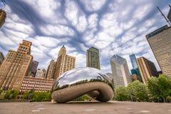 De Poort van de wolk in Chicago, Illinois stock fotografie