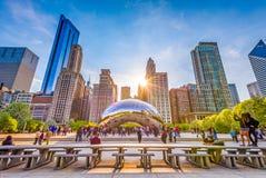 De Poort van de wolk in Chicago, Illinois stock afbeeldingen