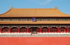 De poort van Wu, verboden stad Stock Afbeeldingen