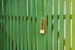 De poort wordt gesloten door het slot Gestemd voor Instagram Royalty-vrije Stock Foto