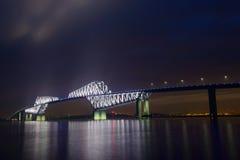 De Poortbrug van Tokyo bij schemer Royalty-vrije Stock Afbeeldingen