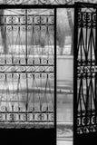 De poorten aan de wereld van drukte stock fotografie
