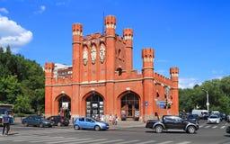 De Poorten van de koning in Kaliningrad, het landschap van de de zomerstad Royalty-vrije Stock Foto's