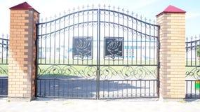 De poorten van het smeedijzer Royalty-vrije Stock Afbeelding