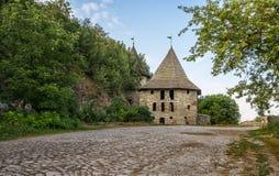 De Poorten van Polen, oud oriëntatiepunt van de stad kamenec-Podolskiy, de Oekraïne stock afbeelding