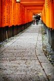 De poorten van Torii van het Heiligdom van Fushimi Inari in Kyoto, Japan royalty-vrije stock afbeeldingen
