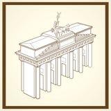 De poortprentbriefkaar van Brandenburg Royalty-vrije Stock Afbeelding