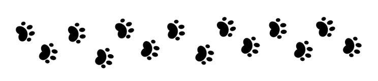 De poot drukt patroon vector illustratie