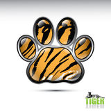 De pootknoop van de tijger Stock Afbeeldingen