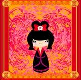 De pop van Kokeshi Royalty-vrije Stock Afbeelding