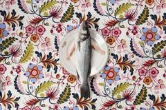 De pop van de plaatwapens van de vissenbloem royalty-vrije stock afbeeldingen