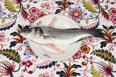 De pop van de plaatwapens van de vissenbloem stock afbeeldingen