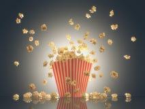De popcorn toont Tijd royalty-vrije stock foto's