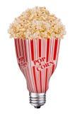 De popcorn van Lightbulb Stock Fotografie