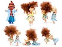 De poppen van de inzameling Stock Afbeelding