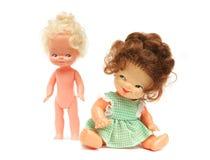 De poppen van de vrouw en van het meisje Royalty-vrije Stock Foto's