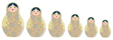 De poppen van Matrioshka Royalty-vrije Stock Foto