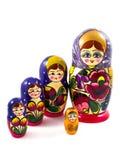 De poppen van Matryoshka Royalty-vrije Stock Foto's