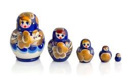 De poppen van Matryoshka Royalty-vrije Stock Afbeeldingen