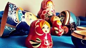 De poppen van Matryoshka Stock Afbeeldingen