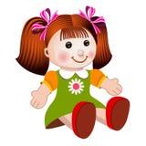 De poppen vectorillustratie van het meisje Stock Afbeelding