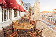 De populaire toevlucht Amara Dolce Vita Luxury Hotel Met pools en waterparken en recreatief gebied langs de overzeese kust in Tur royalty-vrije stock foto's
