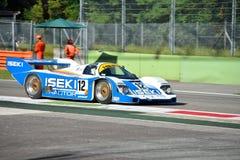 De Porsche 956 do grupo C carro 1985 de competência na ação Imagem de Stock