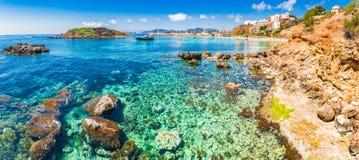 De Portalen Nous van Spanje Majorca Cala Stock Foto's