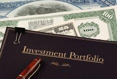 De portefeuille van de investering royalty-vrije stock afbeeldingen