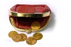 De portefeuille van het muntstuk Royalty-vrije Stock Foto's
