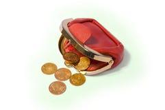 De portefeuille van het muntstuk Stock Foto