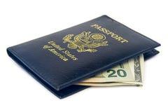 De portefeuille van het Paspoort van Verenigde Staten Stock Fotografie