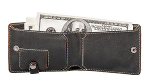 De portefeuille van mensen met bankbiljetten Royalty-vrije Stock Afbeelding