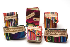 De portemonnee Nicaragua van de herinnering royalty-vrije stock foto's