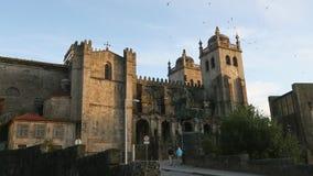 De Porto Kathedraal, Portugal traveling stock video