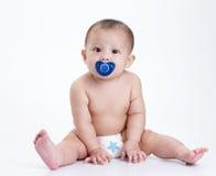 De portretten van de baby Stock Afbeeldingen