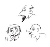 De portretten van de karikatuur Royalty-vrije Stock Foto