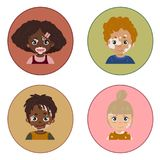 De portretten van de de huidziekte van kinderenvitiligo vector illustratie