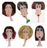 De portretten van vrouwen Stock Afbeelding