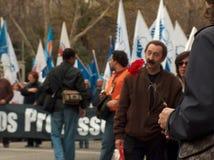 De Portugese Leraren protesteren stock afbeelding